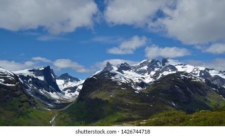 Jotunheimen, beautiful mountains and national park.