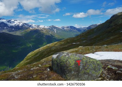 Jotunheimen, beautiful mountains and national park in Norway.