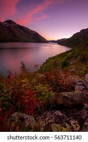 Jotunheimen Park in Norway on a beautiful evening