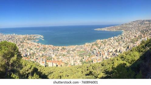 Jounieh bay in Lebanon