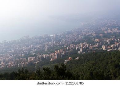 jounieh cityscape in lebanon