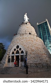 Jounieh, Lebanon - 02 Jan 2018. Virgin Mary Of Lebanon in Jounieh