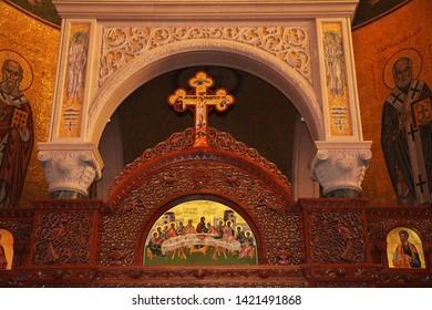 Jounieh, Lebanon - 31 Dec 2017. The church in Jounieh, Lebanon