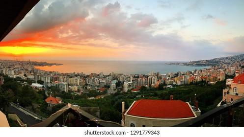 Jounieh, Lebanon Panorama Shot.