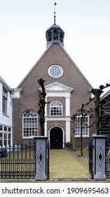 JOURE, THE NETHERLANDS - FEBRUARY 03 2021: The Mennonite Church in the Midstraat is a church building in Joure in the Dutch province of Friesland, the Netherlands