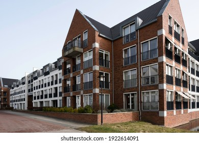 JOURE, THE NETHERLANDS - FEBRUARY 22 221: New housing estate with mainly modern apartments and homes for sale for the elderly in Joure, the Netherlands