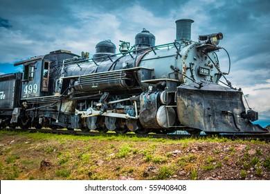 Journey begins - a vintage steam engine
