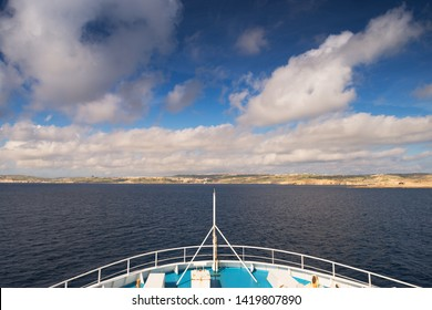 Journey by ferry to Gozo Island, Malta