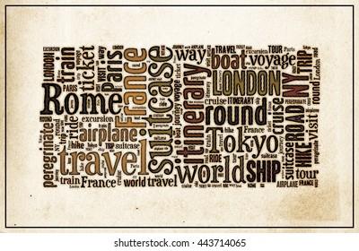 Journey Keywords Tag Cloud   - halftone  vintage   poster