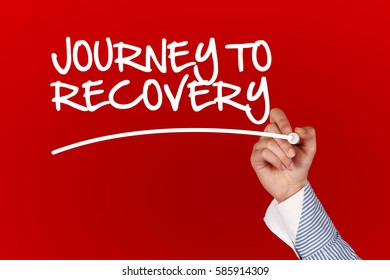Journey To Recovery concept