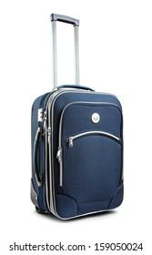 Journey suitcase isolated on white