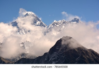 Journey through the mountain trails in the Himalayas.