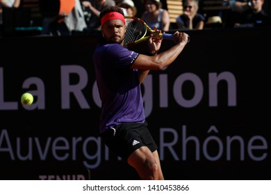 Jo-Wilfried Tsonga (FRA) during the Open Parc Auvergne-Rhone-Alpes Lyon 2019, ATP 250 Tennis tournament on May 22, 2019 at Parc de la Tete d'Or in Lyon, France