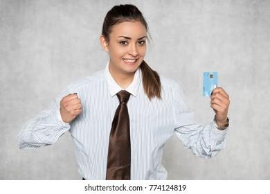 joy of having a bank card