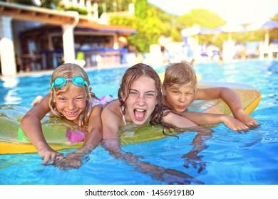 joy of kids in the pool