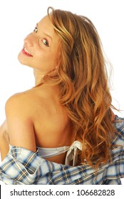 Joy poached - A lively and cheerful girl who wears a shirt over the swimsuit 247