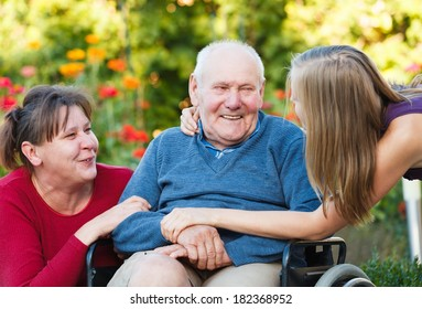 Joyful family moment - loving grandfather with his beloved.