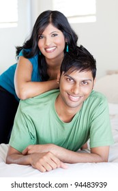 joyful young indian couple portrait