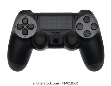Joystick on white background, isolated close-up
