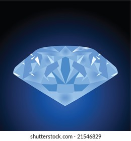 Jpeg illustration of a blue diamond over a black and blue background