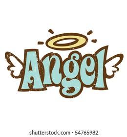 Vintage Angel Illustration Stock Illustrations Images Vectors