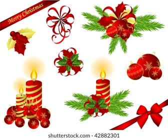 JPG Christmas design elements