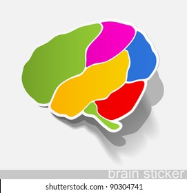 jpg, human brain, realistic design elements