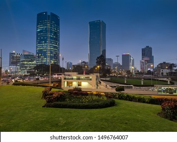 jpg, Lima, Lima, Peru august 28th 2019 Night cityscape in business centre San Isidro district  - Imagen