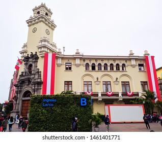 jpg, Lima Lima, Peru july 23th 2019 municipality of Miraflores near to Kennedy park