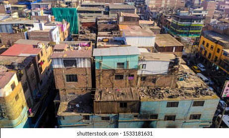 jpg, Lima, Lima Peru october 7th 2019 Panorama photo of Gamarra in Lima, the biggest textile market in South America