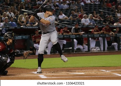 J.T. Realmuto catcher for the Miami Marlins at Chase Field in Phoenix,AZ USA June 4,2018.