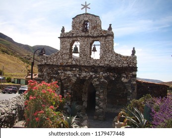 Juan Felix Sanchez Church -  Church built with stone of the valley, several decades ago, at the middle of a mountain road to the merida state in venezuela