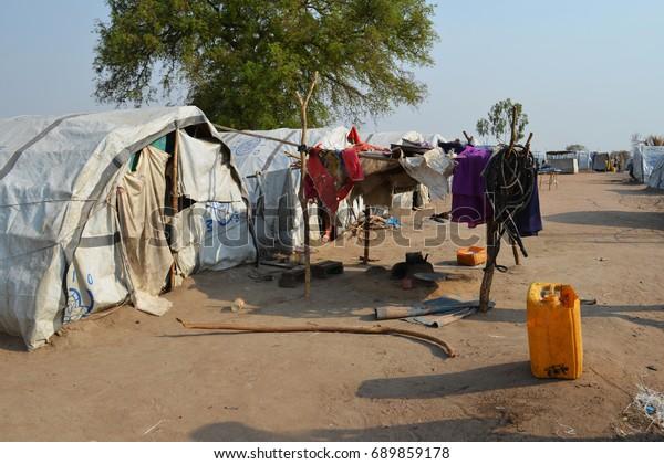 Juba South Sudan February 2017 Tent Stock Photo (Edit Now