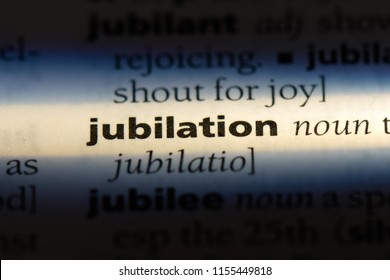 jubilation word in a dictionary. jubilation concept.
