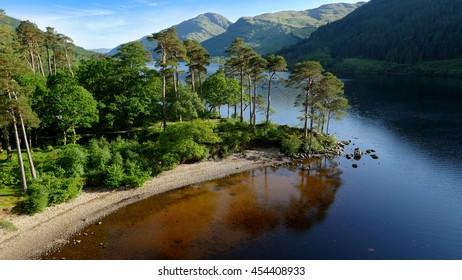 Jubilee Point on Loch Eck, Argyllshire, Scotland