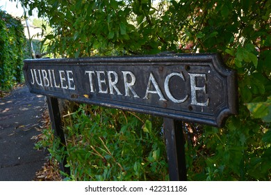 Jubilee terrace sign