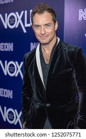 """Jude Law attends Neon's """"Vox Lux"""" Los Angeles Premiere, Los Angeles, California on December 5th, 2018"""