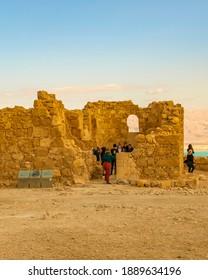 JUDEA, ISRAEL, DECEMBER - 2019 - Masada national park fort, Judea, Israel
