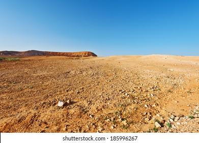 Judean Desert on the West Bank of the Jordan River