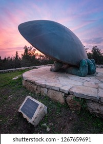Judean Hills - 2018-12-16: A monument by Eli Ran remembering the Space Shuttle Challenger disaster that occured on January 28, 1986. Located near the Soreq caves.