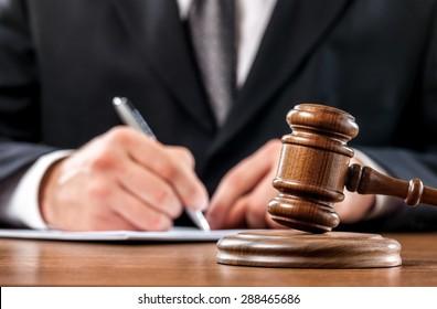 Judge, Gavel, Auction.