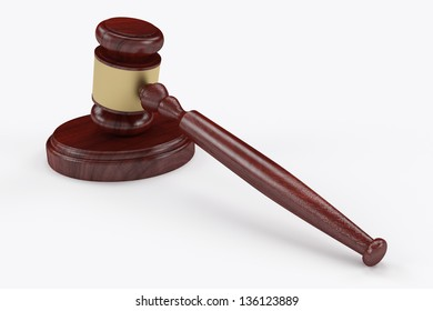 Judge hammer, mallet or gavel with clipping path