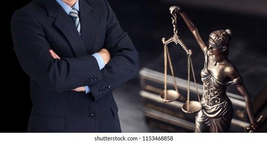 Judge man in black suit