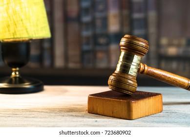 Judge's Gavel. Courtroom theme