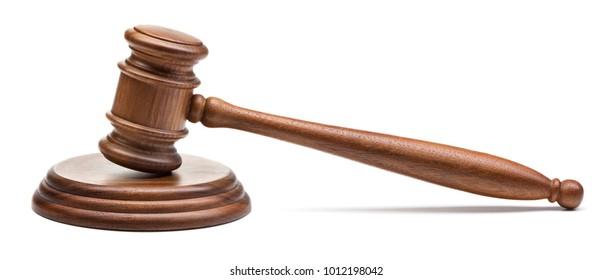 judge's gavel isolated on white background
