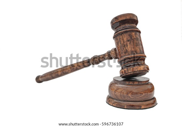 Judges Gavel Isolated On White Stock Photo (Edit Now ...