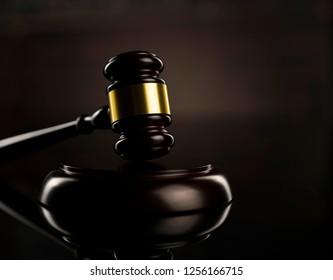Judge's gavel. Law concept.