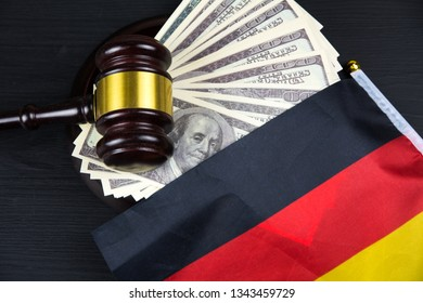 Judge's gavel with money and german flag