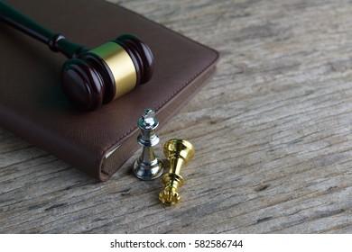 Judge's Gavel on book
