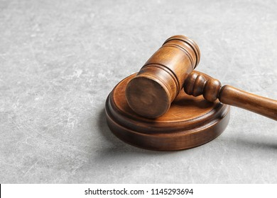 Judge's gavel on light background. Law concept